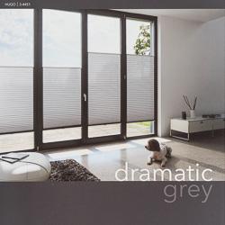 MHZ Plissee Farbkarten dramatic grey