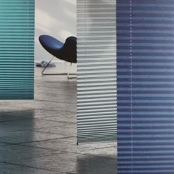 MHZ Plissee Farbkarte Blau
