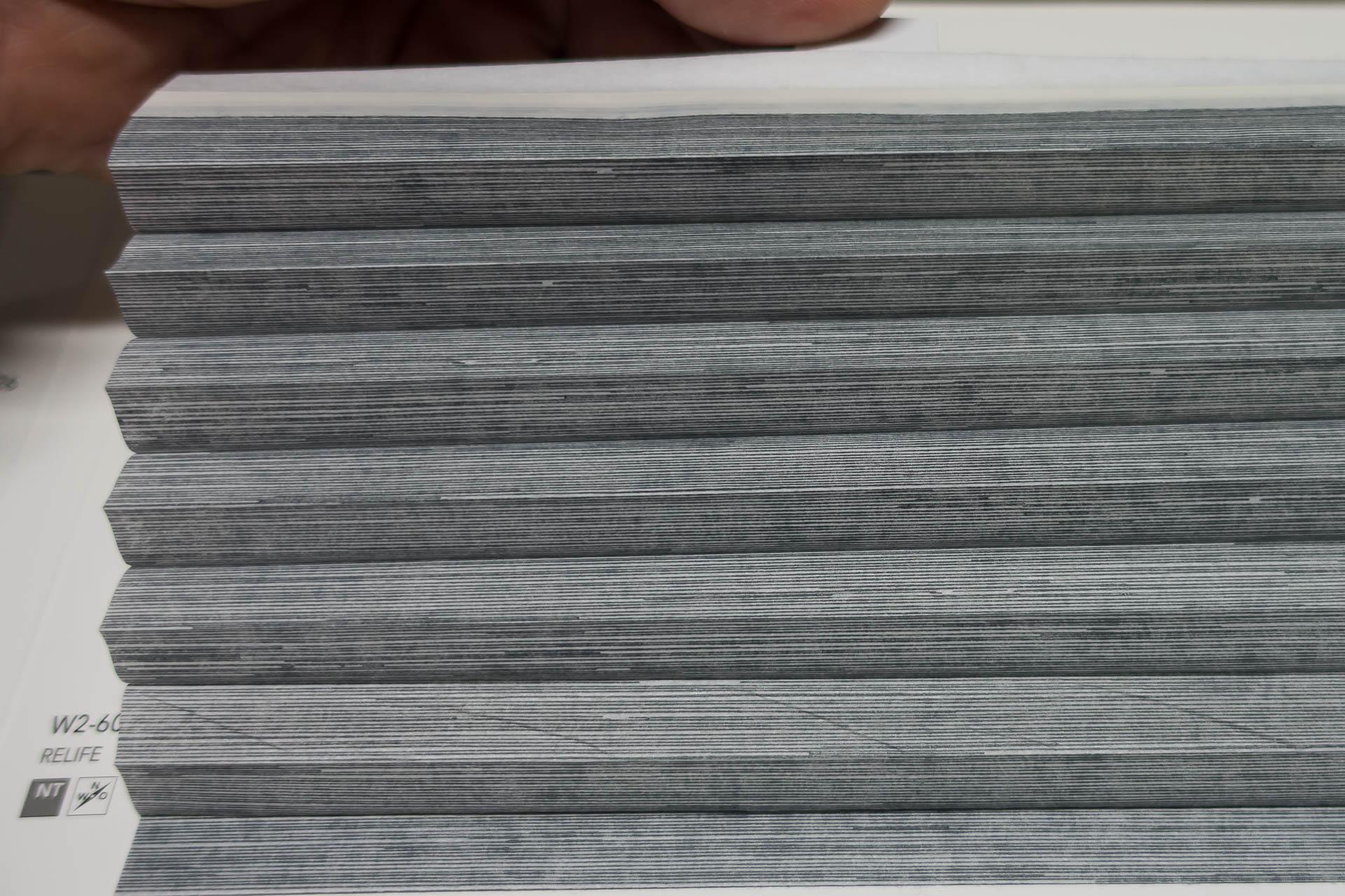 "Waben-Plissee-Stoff aus der Farbkarte ""Relife"" | Material: 100 % PES"
