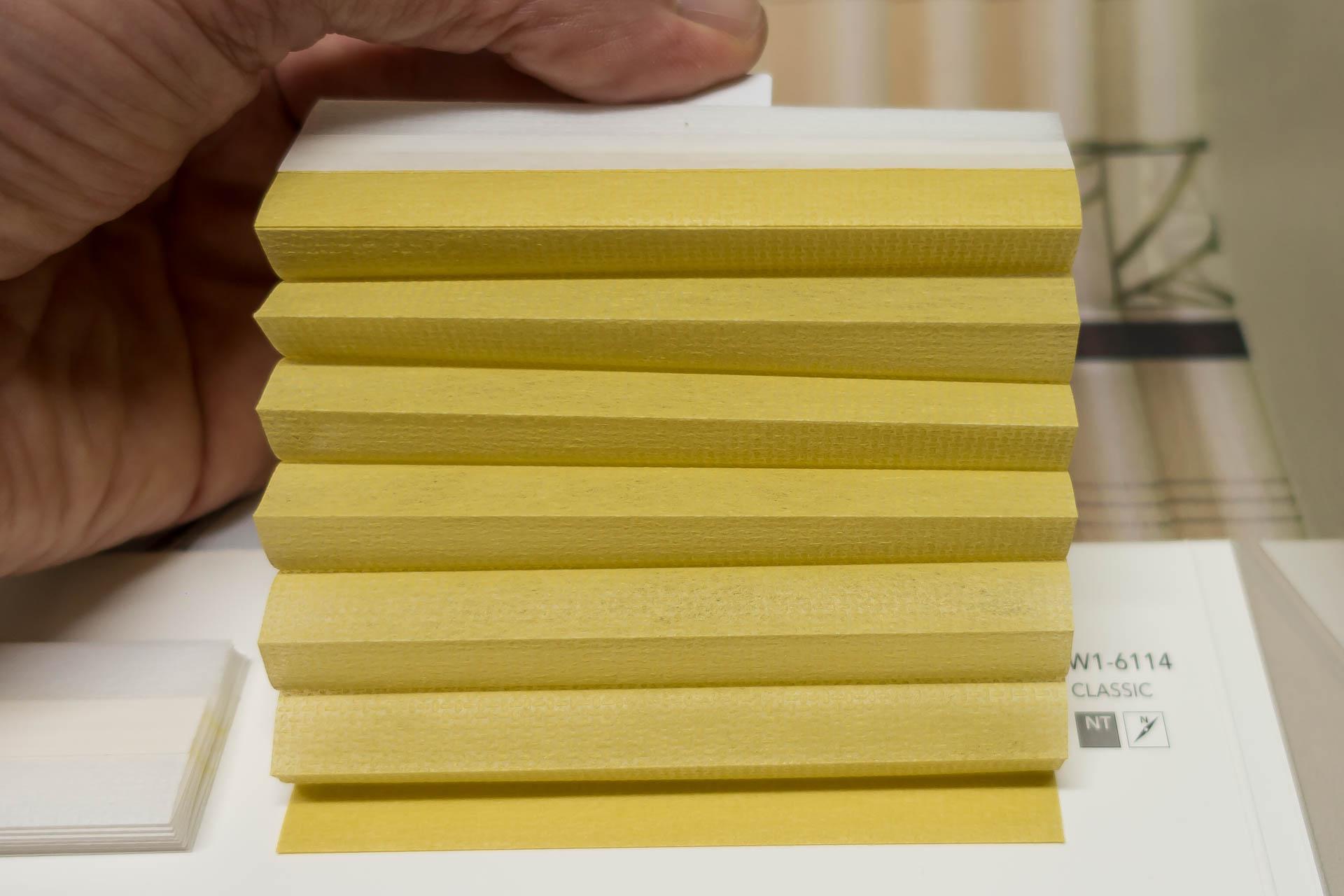 "Waben-Plissee-Stoff aus der Farbkarte ""Classic"" | Material: 100 % PES"