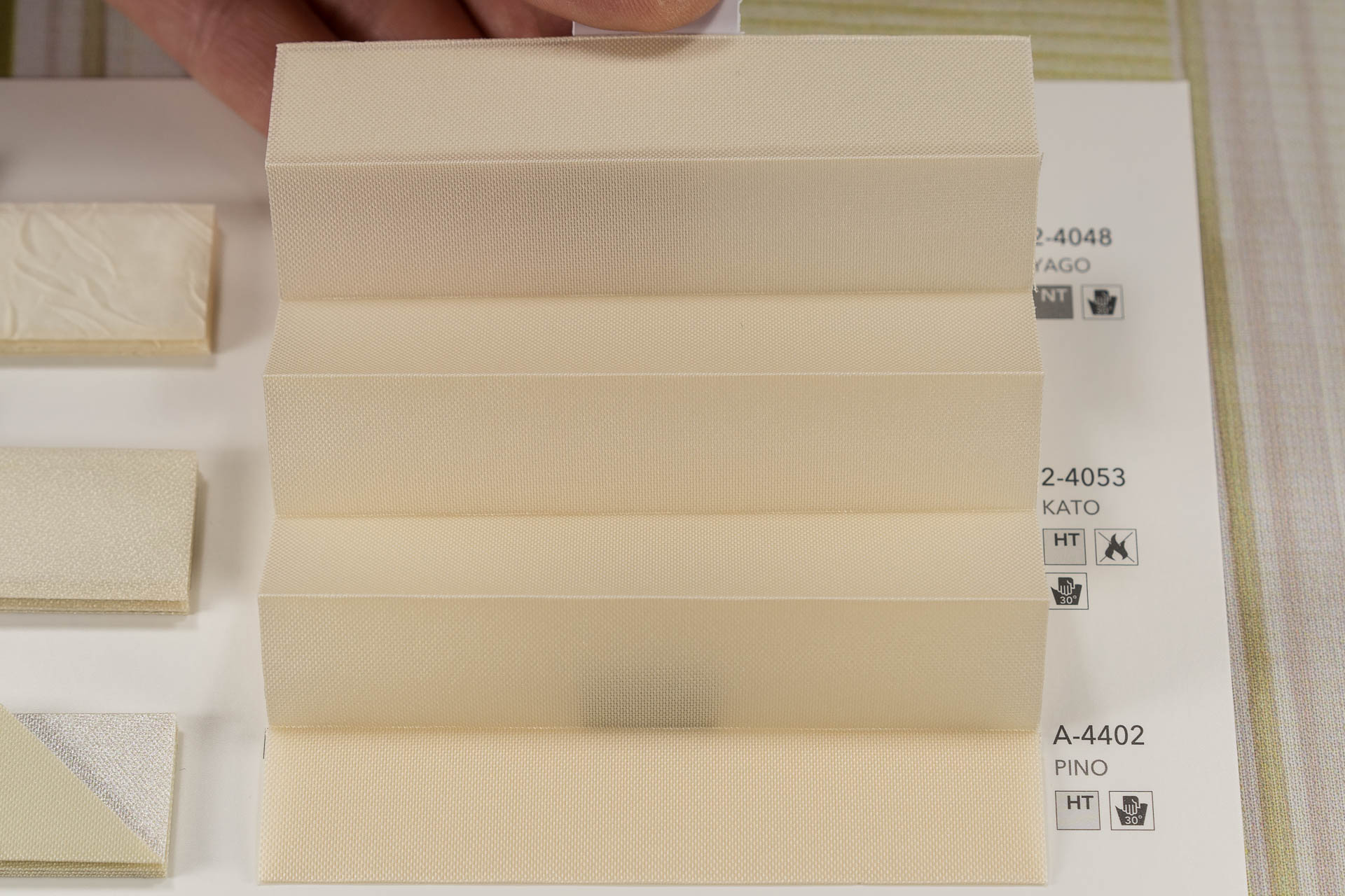 """MHZ Plissee Stoff Muster aus der Farbkarte """"5 natural moments"""" 