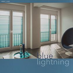 MHZ Plissee Farbkarte blue lightning